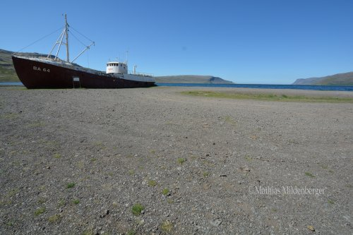 Beached ship near Patreksfjördur
