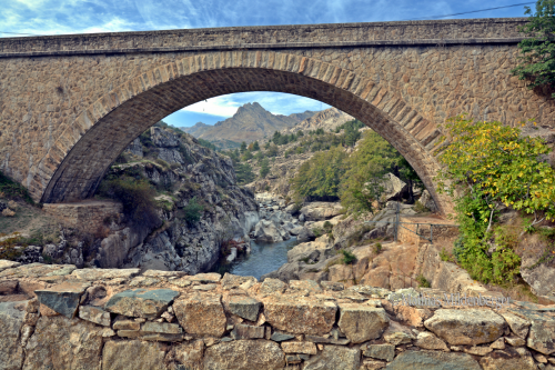 Ponte Altu near Albertacce. To Mordor there in the back...